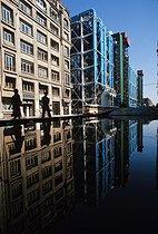 Roger-Viollet | 660054 | The Pompidou Centre, Beaubourg. Paris (IVth arrondissement), 1977. | © Jean-Pierre Couderc / Roger-Viollet