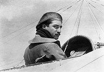 Roger-Viollet   660091   Roland Garros (1888-1918), French aviator and officer. France, 1913.   © Maurice-Louis Branger / Roger-Viollet