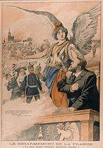 Roger-Viollet | 664198 | Allegorical engraving against Jaurès and Pressensé about the French military policy.  Le Petit Journal , December 1903. | © Roger-Viollet / Roger-Viollet