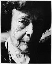 Roger-Viollet | 707890 | Nina Berberova (1901-1993), Russian writer. Paris, April 1985. | © Bruno de Monès / Roger-Viollet