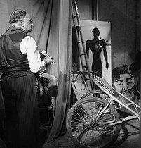Roger-Viollet | 708749 | Wings of a circus. France, circa 1935. | © Gaston Paris / Roger-Viollet