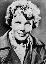 Roger-Viollet | 710471 | Amelia Earhart (1897-1937), American aviatrix. | © Roger-Viollet / Roger-Viollet