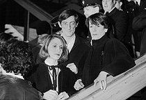 Roger-Viollet | 712859 | Robert Boulin case. Boulin family : Colette Boulin (wife), Bertrand Boulin (son), Fabienne Boulin-Burgeat (daughter). Versailles (France), on January 17, 1984. | © Jean-Régis Roustan / Roger-Viollet
