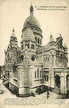 Roger-Viollet | 720711 | The basilica of the Sacré-Coeur. Paris (XVIIIth arrondissement). Postcard, about 1900. | © Roger-Viollet / Roger-Viollet