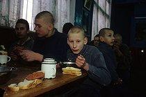 Roger-Viollet | 725625 | Children in Russia.  Priomnik  (Mandatory detention center for children) in Saint Petersburg. Russia, 1994. | © Jean-Paul Guilloteau / Roger-Viollet