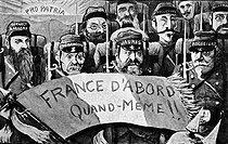 Roger-Viollet | 729438 | Dreyfus affair.  France at first, still . AntiDreyfusard caricature. | © Roger-Viollet / Roger-Viollet