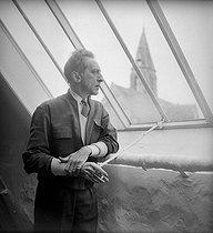 Roger-Viollet | 745727 | Jean Cocteau (1889-1963), French writer. Milly-la-Forêt (Essonne), 1951. | © Boris Lipnitzki / Roger-Viollet