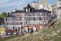 Roger-Viollet | 755503 | Children playing in the Belleville district, rue Vilin. Paris (XXth arrondissement), May 1967. Photograph by Léon Claude Vénézia (1941-2013). | © Léon Claude Vénézia / Roger-Viollet