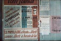 Roger-Viollet | 765431 | World War II. Gaullist newpaper,  Le Populaire . Paris, August 1944. Photograph by André Zucca (1897-1973). Bibliothèque historique de la Ville de Paris. | © André Zucca / BHVP / Roger-Viollet