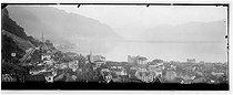 Roger-Viollet | 768205 | La ville et le lac. Montreux (Suisse), vers 1900. | © Léon & Lévy / Roger-Viollet