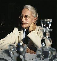 Roger-Viollet | 768623 | Roger Peyrefitte (1907-2000), French writer and diplomat, December 1980. | © Kathleen Blumenfeld / Roger-Viollet