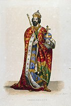Roger-Viollet | 770982 | Charlemagne (747-814), King the Franks, and Emperor of the Romans. Engraving by Migneret after Faur, 19th century. | © Roger-Viollet / Roger-Viollet