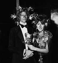 Roger-Viollet | 774646 | François-Marie Banier (born in 1947), French writer and photographer, and Charlotte Aillaud (Juliette Gréco's sister), attending the Rothschild surrealistic party. Château de Ferrières (France), on December 12, 1972. | © Jack Nisberg / Roger-Viollet