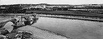 Roger-Viollet | 784529 | Vue sur le Rhône et le pont Saint-Bénézet (ou pont d'Avignon, 1177-1185). Background : Villeneuve-lès-Avignon and the Tour Philippe-le-Bel (Tower of Philip the Fair, 14th century). Avignon (France), circa 1900. | © Neurdein / Roger-Viollet