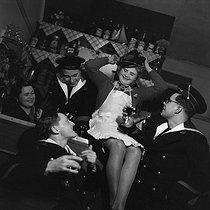 Roger-Viollet | 787603 | Sailors in a cabaret. France, circa 1935. | © Gaston Paris / Roger-Viollet