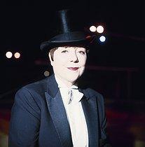 Roger-Viollet | 803309 | Annie Fratellini (1932-1997), French circus artist, June 1987. | © Kathleen Blumenfeld / Roger-Viollet