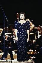 Roger-Viollet | 809918 | Cecilia Bartoli (born in 1966), Italian opera singer. Paris, Opéra Garnier, September 1987. | © Colette Masson / Roger-Viollet