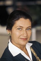 Roger-Viollet | 811932 | Simone Veil (1927-2017), French politician and Minister for Health, in her study. France, 1974. | © Jean-Pierre Couderc / Roger-Viollet