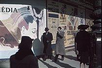 Roger-Viollet | 814896 | World War II. Poster on the Grands Boulevards for the  bons de solidarité , Paris. Photograph by André Zucca (1897-1973). Bibliothèque historique de la Ville de Paris. | © André Zucca / BHVP / Roger-Viollet