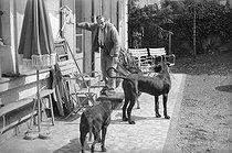 Roger-Viollet | 822067 | Louis-Ferdinand Céline (1894-1961), French writer. Meudon (Hauts-de-Seine), 1955-1956. | © Bernard Lipnitzki / Roger-Viollet