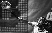 Roger-Viollet | 822470 | Björn Borg (born in 1956), Swedish tennis player. Roland-Garros (Paris), on June 7, 1976. | © Jean-Pierre Couderc / Roger-Viollet