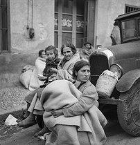 Roger-Viollet | 826086 | Spanish Civil War (1936-1939). Exodus of the Republicans in France, February 1939. | © Gaston Paris / Roger-Viollet