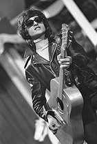 Roger-Viollet | 830129 | Michel Polnareff (born in 1944), French singer. | © Jacques Cuinières / Roger-Viollet