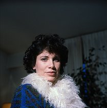 Roger-Viollet | 847285 | Anne Sinclair (born in 1948), French journalist. Paris, December 1982. | © Kathleen Blumenfeld / Roger-Viollet
