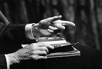 Roger-Viollet | 850980 | Hands of Maxime Weygand (1867-1965), French General. | © Laure Albin Guillot / Roger-Viollet