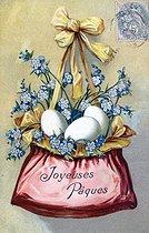 Roger-Viollet | 853420 | Easter. Fancy postcard. Beginning of XXth century. | © Roger-Viollet / Roger-Viollet