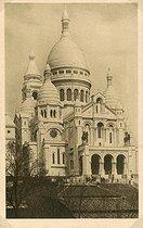 Roger-Viollet | 869852 | The Sacré-Coeur in Montmartre. Paris (XVIIIth arrondissement). Postcard, about 1900. | © Roger-Viollet / Roger-Viollet