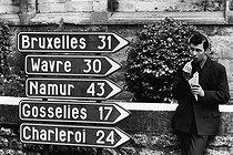 Roger-Viollet | 879257 | Belgium between Brussels, Wavre, Namur, Gosselies and Charleroi, on May 20, 1971. | © Jean-Pierre Couderc / Roger-Viollet