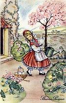 Roger-Viollet | 884460 | Easter. Italian fancy postcard by Edy. Beginning of XXth century. | © Roger-Viollet / Roger-Viollet