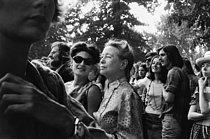 Roger-Viollet | 887671 | SIMONE DE BEAUVOIR. PRESIDENT OF THE WOMEN'S LIBERATION MOVEMENT. VINCENNES | © Janine Niepce / Roger-Viollet