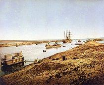 Roger-Viollet | 900351 | Suez Canal. Entrance of the Bitter Lake. Egypt, circa 1890-1900. | © Roger-Viollet / Roger-Viollet