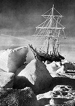 Roger-Viollet | 902399 | Expedition in Antarctica of Ernest Shackleton (1874-1922), British sailor and explorer.  L'Endurance  boat taken in the frozen Weddell Sea, October 1915. | © Roger-Viollet / Roger-Viollet