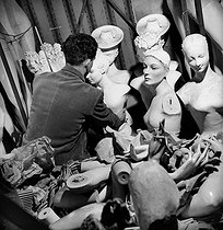 Roger-Viollet | 905692 | Display mannequins in the storeroom of the Galeries Lafayette department store. Paris (IXth arrondissement), 1948. | © Pierre Jahan / Roger-Viollet