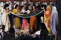 Roger-Viollet | 908318 | Benazir Bhutto (1953-2007), Pakistani politician, the day of her wedding with Asif Ali Zadari. Karachi (Pakistan), on December 18, 1987. | © Françoise Demulder / Roger-Viollet