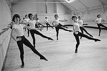 Roger-Viollet | 916526 | Patrick Dupond (on the right), French ballet dancer, at the Paris Opera ballet school, 1972. | © Colette Masson / Roger-Viollet