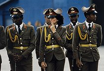 Roger-Viollet | 919434 | Members of Fidel Castro's inner circle. Cuba, 1988. | © Françoise Demulder / Roger-Viollet