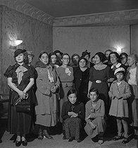 Roger-Viollet | 927797 | French Communist party. Meeting of women organized by Maria Rabaté (1900-1985), French politician (centre). Paris, 1938. Photograph by Marcel Cerf (1911-2010). Bibliothèque historique de la Ville de Paris. | © Marcel Cerf / BHVP / Roger-Viollet