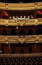 Roger-Viollet | 932392 | Interior of the Opéra Garnier. Paris, 1983. | © Jean-Pierre Couderc / Roger-Viollet