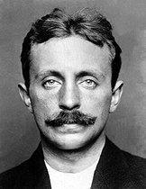 Roger-Viollet | 936323 | Raoul Villain (1885-1936), French criminal who assassinated Jean Jaurès (1859-1914), French politician, on July 31, 1914. | © Albert Harlingue / Roger-Viollet