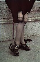 Roger-Viollet | 953589 | World War II.  Swing  shoes made with fireglass, Paris. Photograph by André Zucca (1897-1973). Bibliothèque historique de la Ville de Paris. | © André Zucca / BHVP / Roger-Viollet