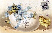 Roger-Viollet | 973954 | Easter. Fancy postcard. Beginning of XXth century. | © Roger-Viollet / Roger-Viollet
