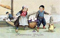 Roger-Viollet | 987133 | Easter. Fancy postcard. Beginning of XXth century. | © Roger-Viollet / Roger-Viollet