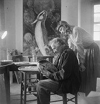 Roger-Viollet | 1000928 | Marc Chagall and Virginia | © Boris Lipnitzki / Roger-Viollet