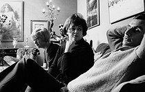 Roger-Viollet   1004829   Françoise Sagan (1935-2004), French writer, Régine (born in 1929), French businesswoman and singer, and Jean Cau (1925-1993), French writer and journalist. Paris, 1967. Photograph by Georges Kelaïditès (1932-2015).   © Georges Kelaïditès / Roger-Viollet