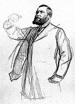 Roger-Viollet | 1006501 | Jean Jaurès (1859-1914), French politician, during the trial of Alfred Dreyfus (1859-1935), 1899. | © Roger-Viollet / Roger-Viollet