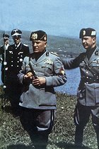 Roger-Viollet | 1015414 | Benito Mussolini attending the manoeuvres of the Italian army, 1938. | © Roger-Viollet / Roger-Viollet